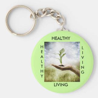 HEALTHY, LIVING, HEALTHY... KEYCHAIN