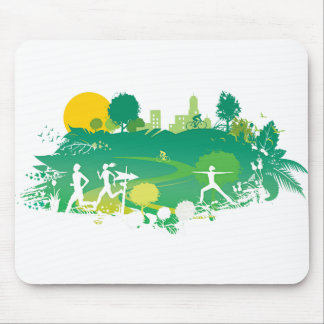 Healthy Living Scene Mouse Pad