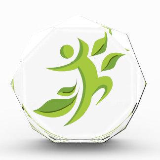 Healthy Man Icon Acrylic Award