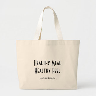Healthy Meal Large Tote Bag