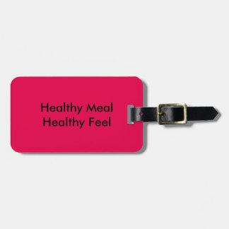 Healthy Meal Luggage Tag