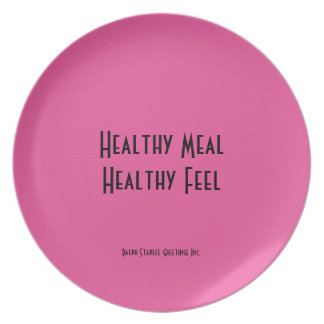 Healthy Meal Melamine Plate