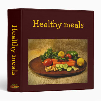 Healthy Meals Recipes 3 Ring Binders
