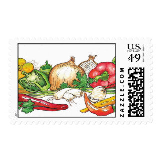 Healthy ,natural food-Locally Grown and Organic Postage Stamp