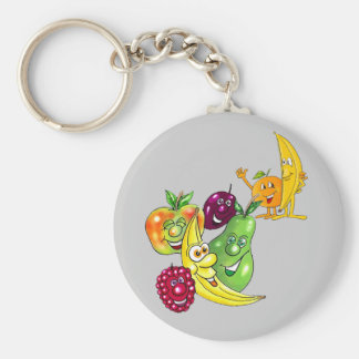 Healthy Nutritional Fruit Basic Round Button Keychain