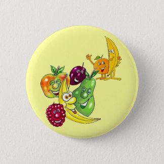 Healthy Nutritional Fruit Pinback Button