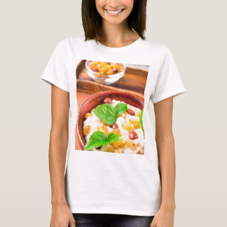 Healthy oatmeal with berries, raisins and herbs T-Shirt