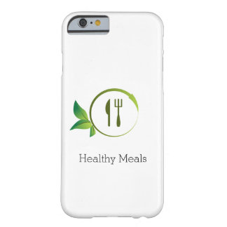 Healthy Organic Meals Leaf Circle Phone Case Barely There iPhone 6 Case