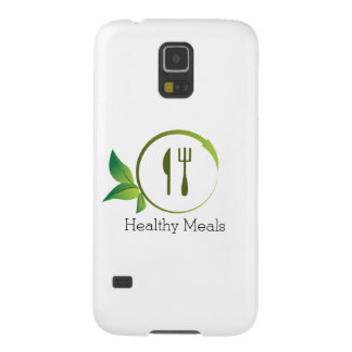 Healthy Organic Meals Leaf Utensil Circle Galaxy S5 Cover