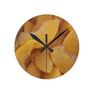 healthy peaches round clock