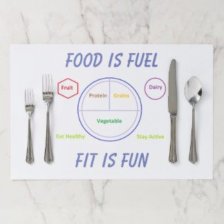Healthy Plate Guide Placemat for Kids and Adults