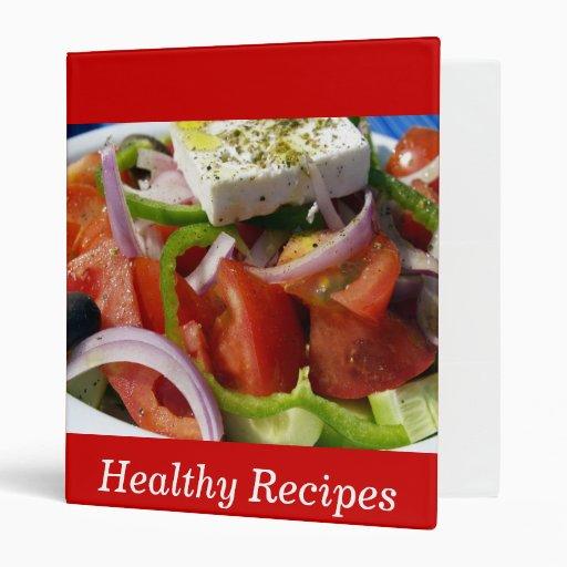 Healthy Recipes 3 Ring Binders