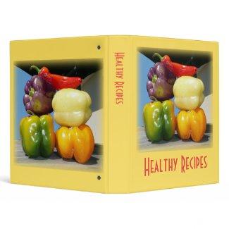 Healthy Recipes binder