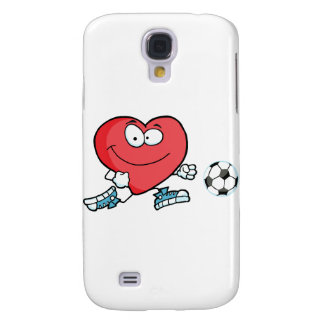 Healthy Red Heart Playing With Soccer Ball Samsung Galaxy S4 Case