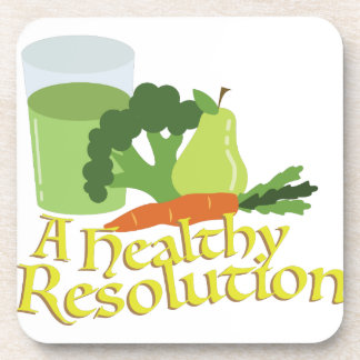 Healthy Resolution Drink Coaster