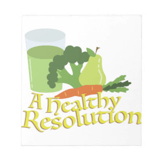 Healthy Resolution Notepad