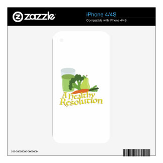 Healthy Resolution Skins For iPhone 4S