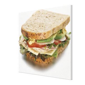 Healthy sandwich canvas print