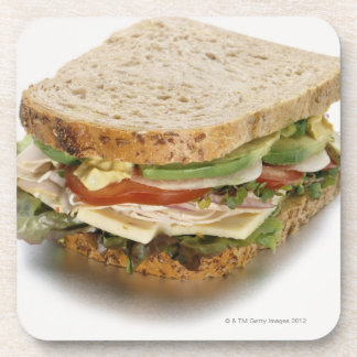 Healthy sandwich drink coaster