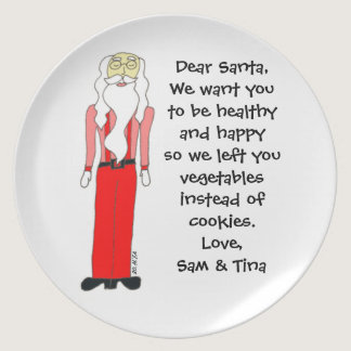 Healthy Santa Custom Veggie Plate