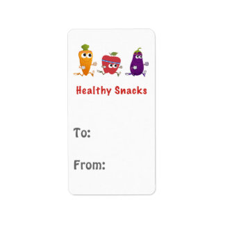 Healthy Snacks Label