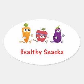 Healthy Snacks Oval Sticker