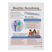 Healthy Socializing Poster