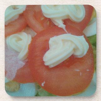 Healthy Spring Salad Beverage Coasters