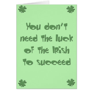 Healthy St. Patty's Day Card