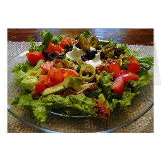 Healthy Taco Salad Recipe Note Card