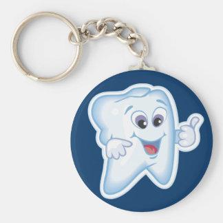 Healthy Teeth Basic Round Button Keychain