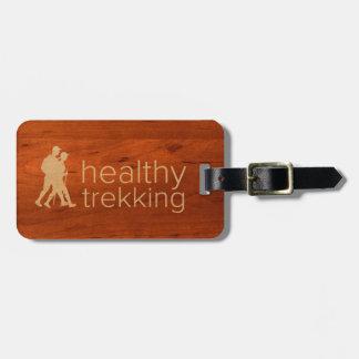Healthy Trekking Faux Koa Wood Luggage Tag