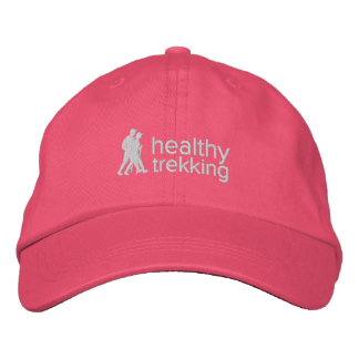Healthy Trekking Pink Ribbon Embroidered Travel Embroidered Baseball Hat