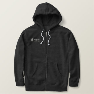 Healthy Trekking Silver Embroidered Logo Embroidered Hoodie