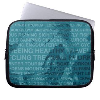 Healthy Trekking Surfer Typography Teal Wet Suit Computer Sleeve