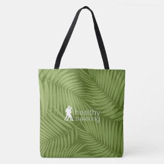 Healthy Trekking Tropical Palms Olive Beach Bag