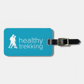 Healthy Trekking Turquoise Luggage Tag
