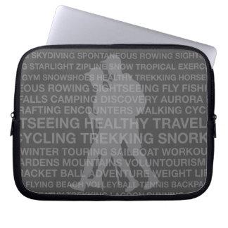 Healthy Trekking Typography Charcoal Wet Suit Computer Sleeve