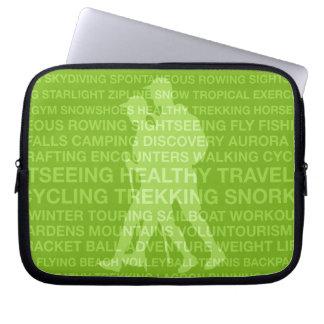 Healthy Trekking Typography Lime Wet Suit Laptop Sleeve