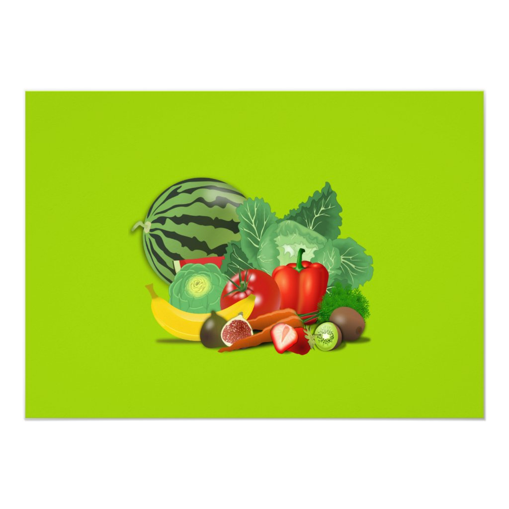 healthy_Vector_Clipart FRUITS VEGETABLES gardening Card