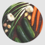 Healthy Vegetables Round Stickers