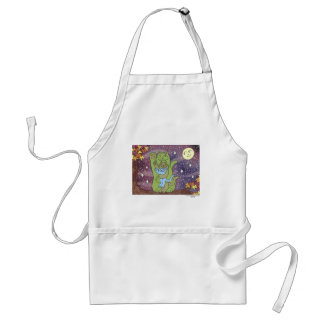 Healthy, Wealthy, & Wise on an Autumn Night Adult Apron