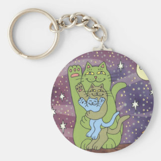 Healthy Wealthy Wise on an Autumn Night Key Chains