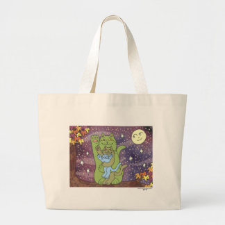 Healthy, Wealthy, & Wise on an Autumn Night Large Tote Bag
