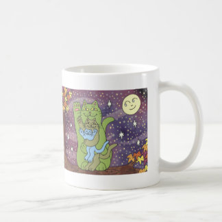 Healthy, Wealthy, & Wise on an Autumn Night Classic White Coffee Mug