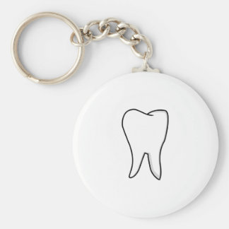 Healthy White Tooth Keychain