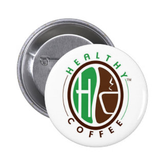 HealthyCoffee branded badge Button