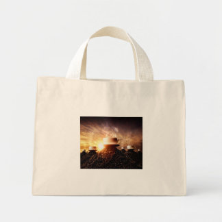 HealthyCoffee mountain tote bag