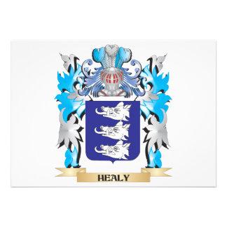 Healy Coat of Arms - Family Crest Custom Invite