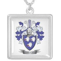 Healy Coat of Arms Silver Plated Necklace